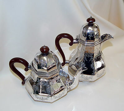 Vintage Sterling Silver Matching Tea & Coffee Pots (1931)