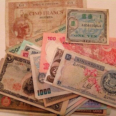 World Currency Foreign Banknotes - Lot of 40