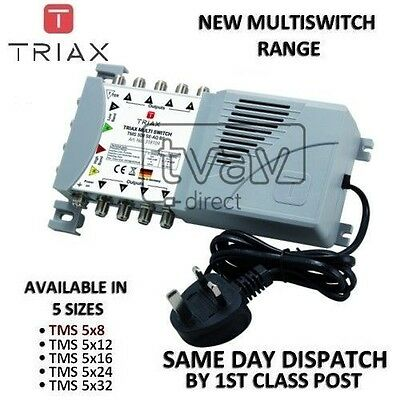 TRIAX New ECO Multiswitch Range - TMS 5 x 8 Satellite Multiswitch