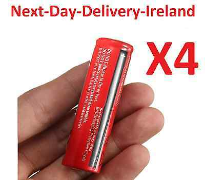 4x 18650 3.7v Rechargeable Battery Batteries Flashlight Headlamp Lamp Laser
