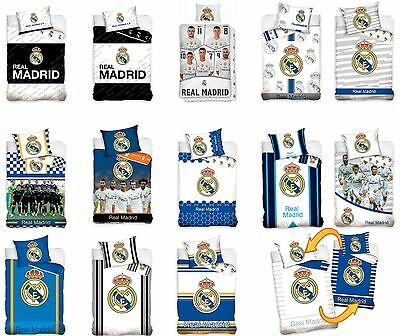 Real Madrid Ronaldo Single Duvet Cover & Pillowcase Set 100% Cotton Official Bed