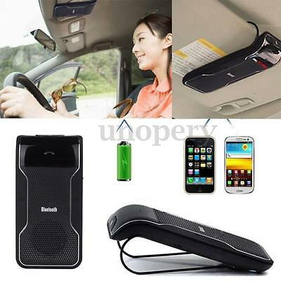 Car Wireless Speaker Bluetooth Receiver HandsFree Clip to Sunvisor for 2 Phones