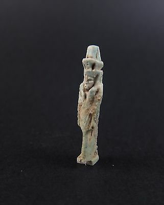 Superb ancient Egyptian faience Nefertum amulet