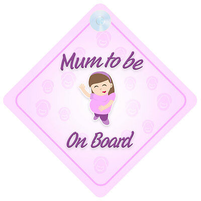 Mum To Be On Board Car Sign New Baby/Child Gift/Present