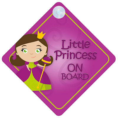 LP012 Little Princess On Board Car Sign New Baby/Child Gift/Present