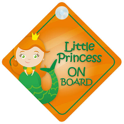 LP013 Little Princess On Board Car Sign New Baby/Child Gift/Present