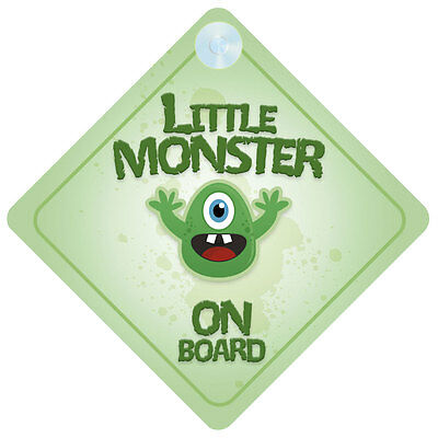 Little Monster On Board Car Sign New Baby/Child Gift/Present