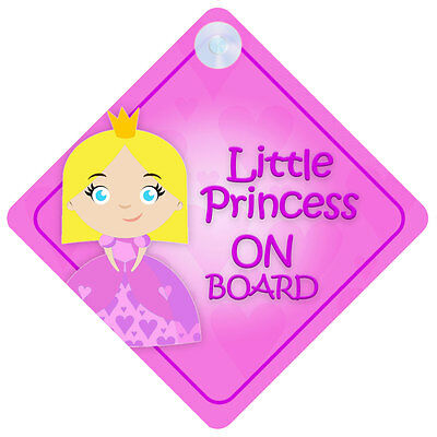 LP016 Little Princess On Board Car Sign New Baby/Child Gift/Present