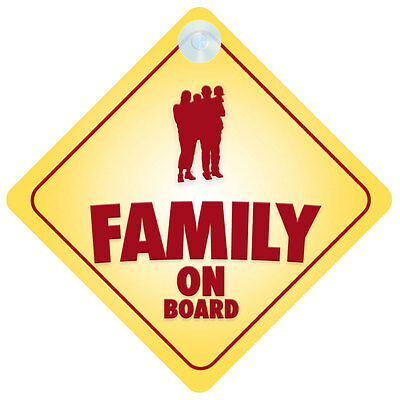 Family On Board Car Sign New Baby/Child Gift/Present