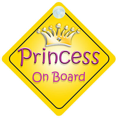 Princess002 On Board Car Sign New Baby/Child Gift/Present