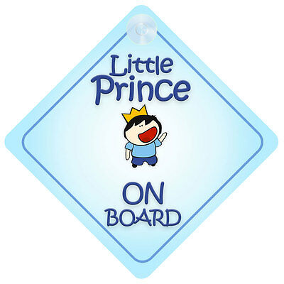 Little Prince On Board Car Sign New Baby/Child Gift/Present