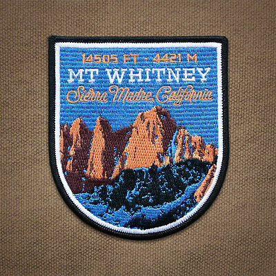 Mt. Whitney Embroidered Mountain Patch