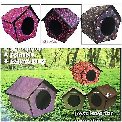Dog Kennel House Waterproof Small Dogs Garden Indoor Outdoor Portable Travel New