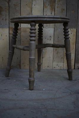Retro Vintage Rustic Solid Wooden Turned Stool / Chair Base - Upcycle