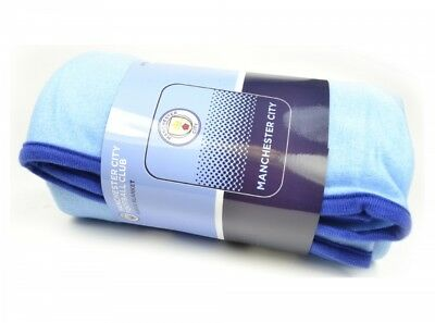Manchester City FC Football blue Soft Fleece Blanket Fade Design Bed Official