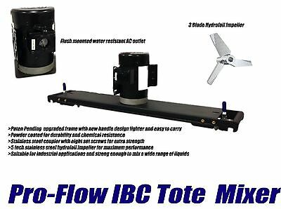 Pro-Flow Ibc Tote Mixer With Hydrofoil Impeller