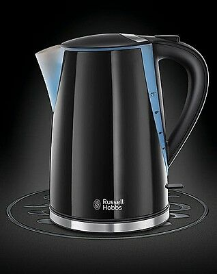RUSSELL HOBBS MODE BLACK JUG KETTLE - 1.7 Litre - 3KW - 21400 - BRAND NEW.