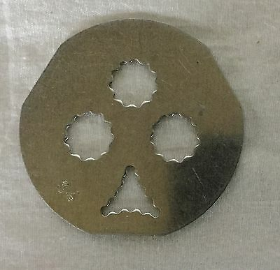 Vintage Mirro Cookie Pastry Press Plates Discs Replacement Part - #34 Club