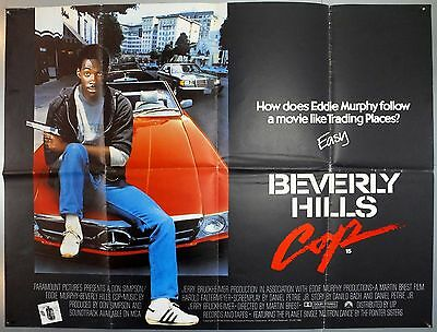 Beverly Hills Cop - Eddie Murphy / Paul Reiser - Original Uk Quad Movie Poster