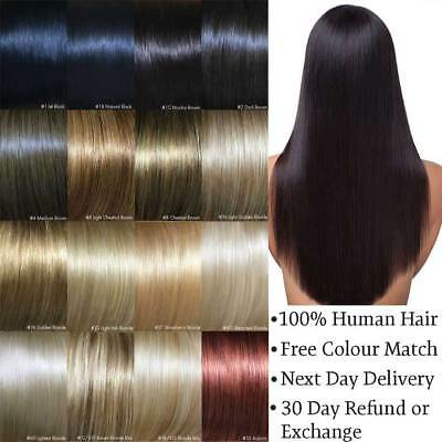 """Remy Human Hair Extensions Clip in One Piece Volumiser 20"""", 24"""", 26"""""""