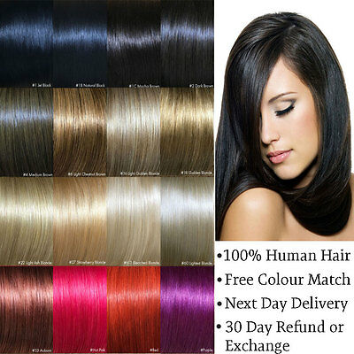 Tape Hair Extensions Remy Human 20 24 26 inch Blonde Brown Black Red Pink Purple