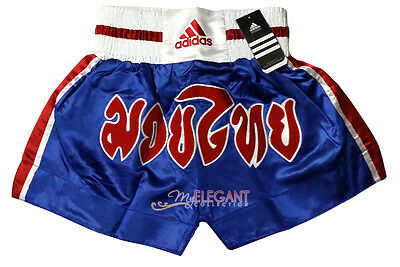 Adidas Performance Men's Thai Boxing Shorts Pants ADISTH02 Blue Adult Size M L