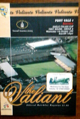 Port Vale V Ancona 11/10/1995 Anglo Italian Cup