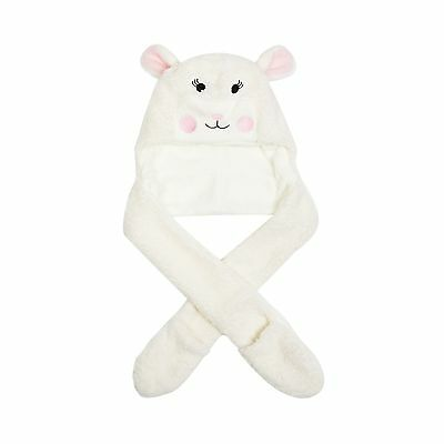 Bluezoo Kids Girls' White Applique Sheep Hat And Scarf From Debenhams