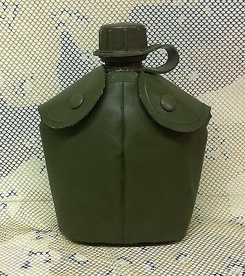 Military Water Bottle / Canteen In Pouch 1978