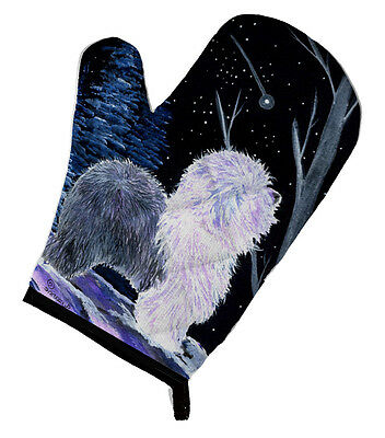 Carolines Treasures  SS8401OVMT Starry Night Old English Sheepdog Oven Mitt