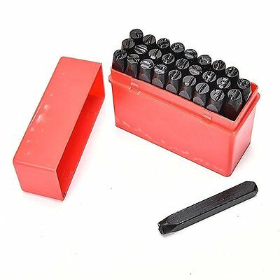 27pc Metal Letter Punches Set Stamps Alphabet 60mm Carbon Steel Craft 2mm-6mm