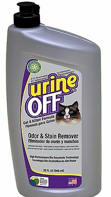 Urine Off Odour and Stain Remover for Cats and Kittens 946ml NEW