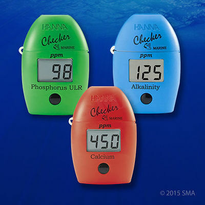 HANNA Checker Marine Phosphate Alkalinity Colorimeter and refills