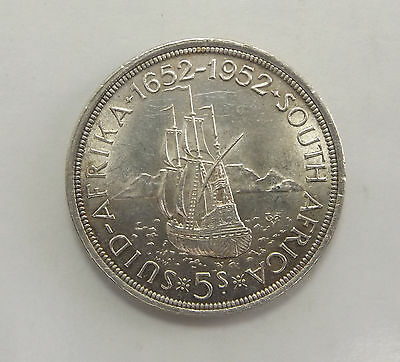 SOUTH AFRICA 5 Shillings 1952 SILVER CROWN, UNCIRCULATED
