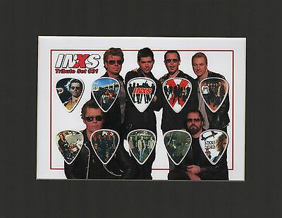 INXS Matted Picture Guitar Pick Set Need You Tonight What You Need Black Matt