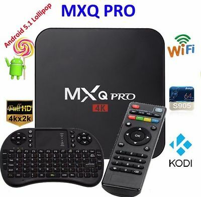 MXQ Pro 4K 8GB Internet TV Box Smart Player Android 5.1 Amlogic S905 + Tastatur
