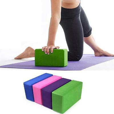 Yoga Block Foam Brick Stretching Aid Gym Pilates For Exercise Fitness Sports LH