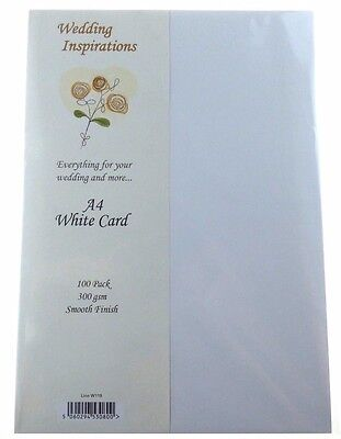 Craft UK A4 White Card pack of 100  CUKW119 N