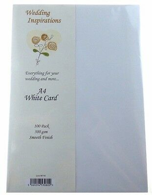 Craft UK Wedding Inspirations A4 White Card pack of 100  CUKW119 N