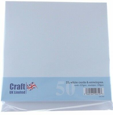 Craft UK DL White Card and Envelopes  CUK263 N