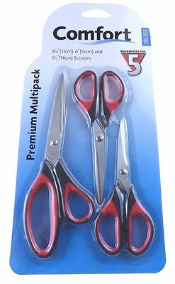 3 Piece Comfort DECREE - Premium Multi pack Scissors DEC4090 N