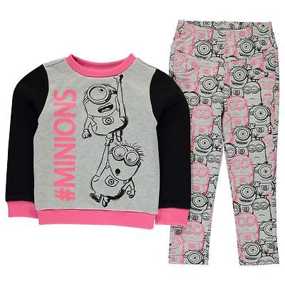 Girls Character 2 Piece Jegging Outfit Minions New With Tags