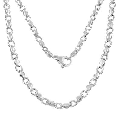"""10k White Gold Handmade Fashion Link Necklace 20"""" 4mm 23.5 grams"""