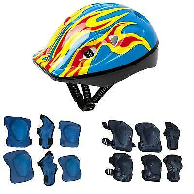 Roller Skate Helmet and Protective Gear with Elbow Knee Wrist Pads for Kids