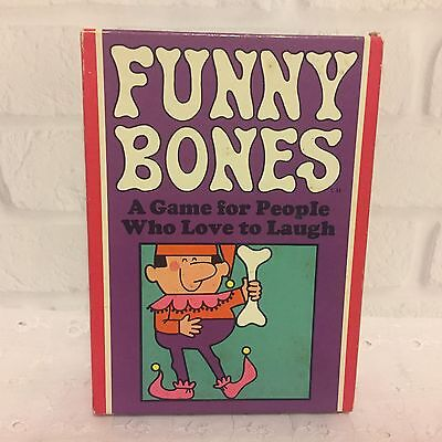 Funny Bones Card Game for People Who Love to Laugh 1968 Parker Brothers Vintage