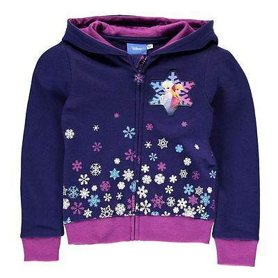 Girls Character Full Zip Hoody Disney Frozen New With Tags