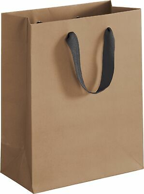 100 Chelsea Kraft Manhattan Paper Bags Eco Euro-Shoppers 8 x 4 x 10""