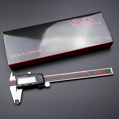 """Electronic LCD Digital Caliper Micrometer 0-6""""/150mm Stainless Steel Measuring"""