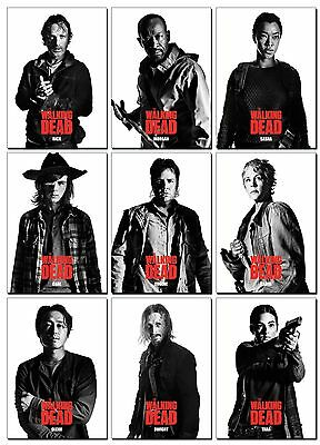 NEW THE WALKING DEAD Season 7 PROFILES Series 1 - 10 Card PROMO Set - Rick Glenn