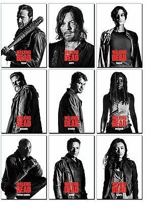 NEW THE WALKING DEAD Season 7 PROFILES Series 2 - 10 Card PROMO Set - Negan